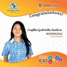ICAS GOLD MEDALS 2019 -- Caytlin Gabriella Santoso