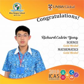 ICAS GOLD MEDALS 2019 -- Richard Calvin Yong