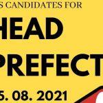 BBS KJS Head Prefect Candidates 2021-2022