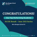 BBS KJS IGCSE Top Performing Students 2021