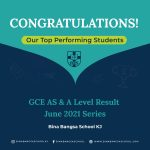 BBS KJS AS and A Level Top Performing Students 2021